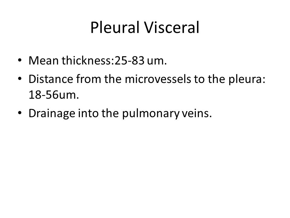 Pleural fluid formation Pleural capillaries.Interstitial space in the lung.