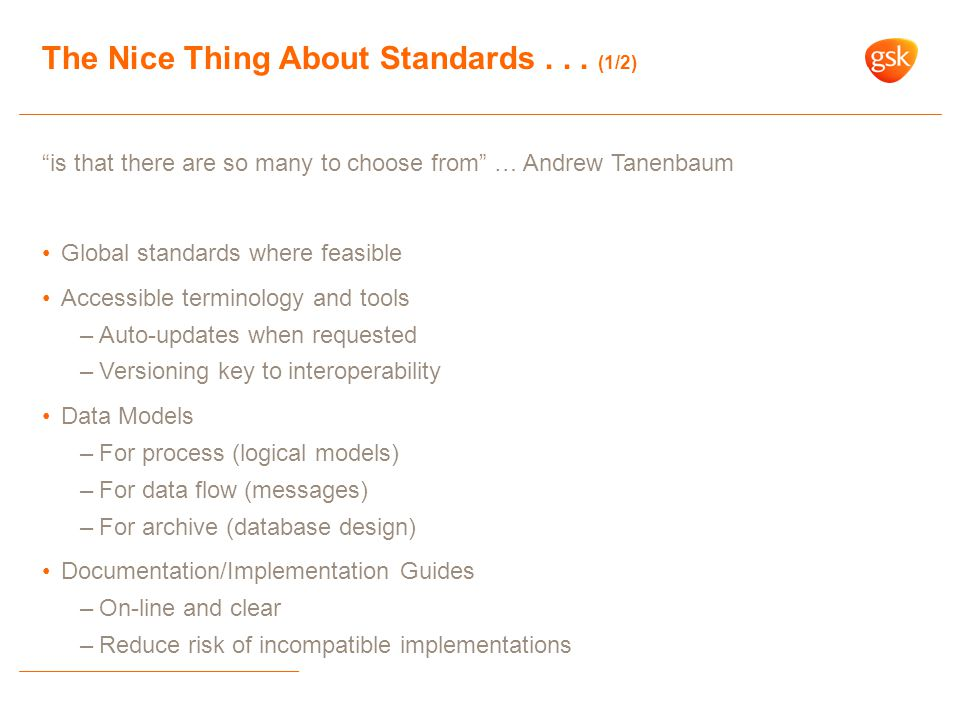 The Nice Thing About Standards... (2/2)