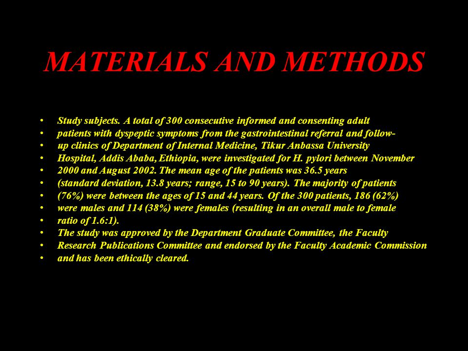 MATERIALS AND METHODS Study subjects.