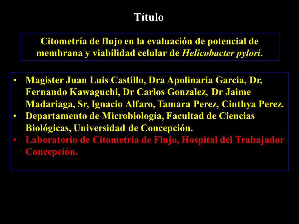 Magister Juan Luis Castillo, Dra Apolinaria Garcia, Dr, Fernando Kawaguchi, Dr Carlos Gonzalez, Dr Jaime Madariaga, Sr, Ignacio Alfaro, Tamara Perez, Cinthya Perez.