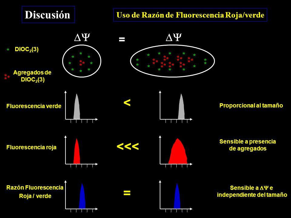 Discusión Uso de Razón de Fluorescencia Roja/verde