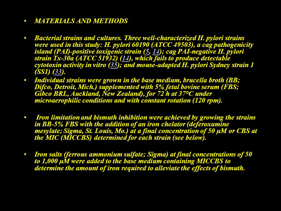 MATERIALS AND METHODS Bacterial strains and cultures.