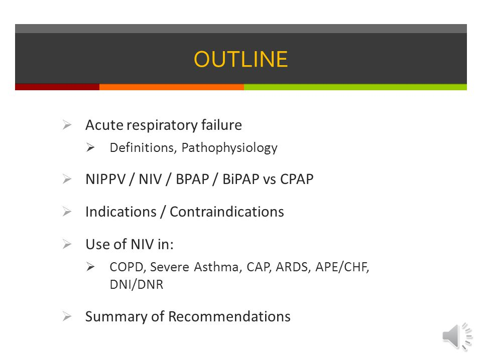 Noninvasive positive pressure ventilation in acute respiratory failure due to COPD vs other causes: Ritesh Agarwal, Rajesh Gupta, Ashutosh N Aggarwal, Dheeraj Gupta SUPPORTIVE VENTILATION: Both hypoxic and hypercapnic patients responded to NIV:  COPD patients improved their PCO2 and pH  PNA/ARDS patients improved their PAO2  Avoided ETI in 87% of COPD patients and 61% all other etiologies  Mortality: 12% in COPD, 18% other etiologies