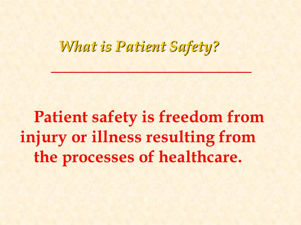 What is Patient Safety.