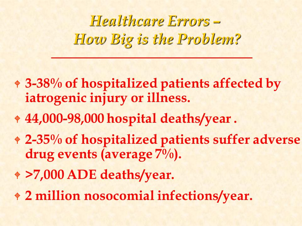Healthcare Errors – How Big is the Problem.