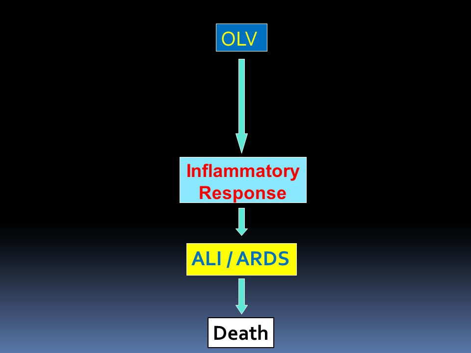 Death OLV Inflammatory Response ALI / ARDS