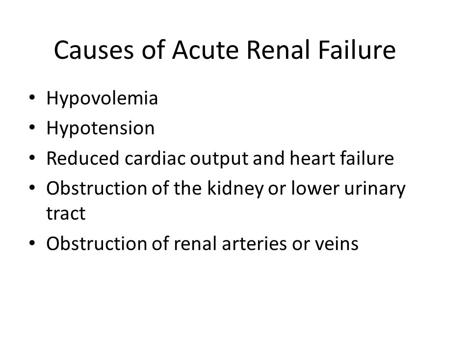 Acute Renal Failure: Is a sudden and almost complete loss of kidney function ( decreased GFR) Mnifestations: 1.Oliguria 2.Anuria 3.normal urine volume.