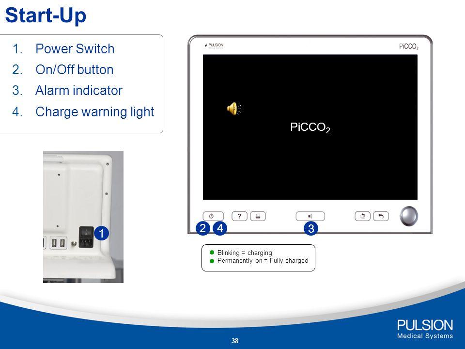 37 Operation PiCCO 2 Information Philips IntelliVue Model PiCCO 2 PiCCO plus Dräger Infinity PiCCO SmartPod