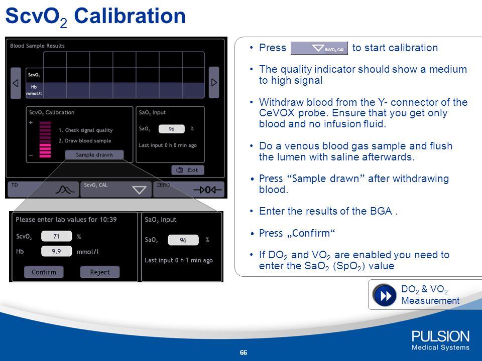 65 ScvO 2 Calibration PiCCO 2