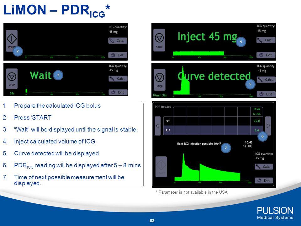 67 LiMON – PDR ICG * Press to go to LiMON calibration.