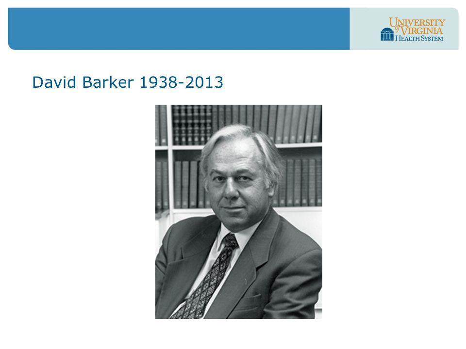 David Barker 1938-2013