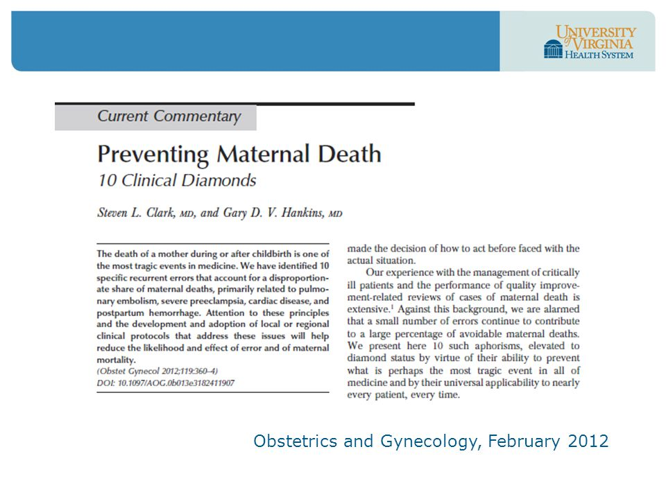 Obstetrics and Gynecology, February 2012