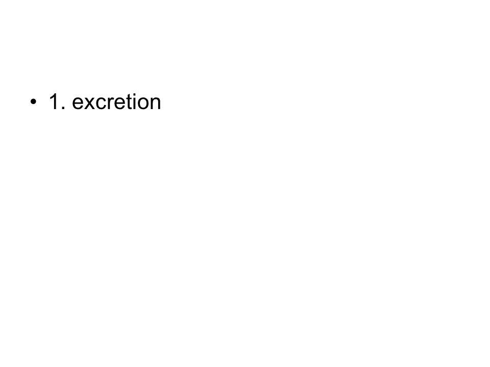 1. excretion