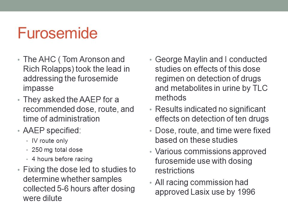 Loop Diuretics Torsemide High ceiling loop diuretic Marketed as Demadex™ Available as oral and parenteral products – generics available Detected and reported from horse urine in 2000s Readily detected by contemporary methods of analysis Chemical Structure