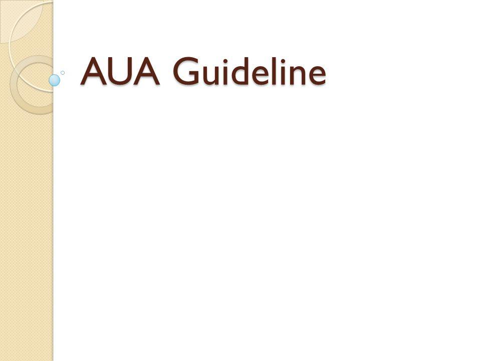 AUA Guideline