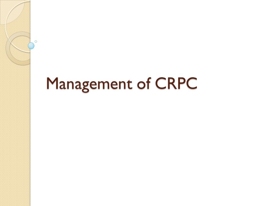 Management of CRPC