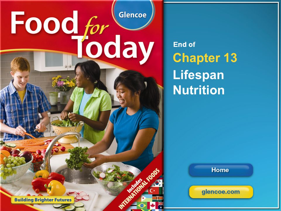 Glencoe Food for Today Chapter 13 Lifespan Nutrition Chapter 13 Lifespan Nutrition 26 End of Chapter 13 Lifespan Nutrition
