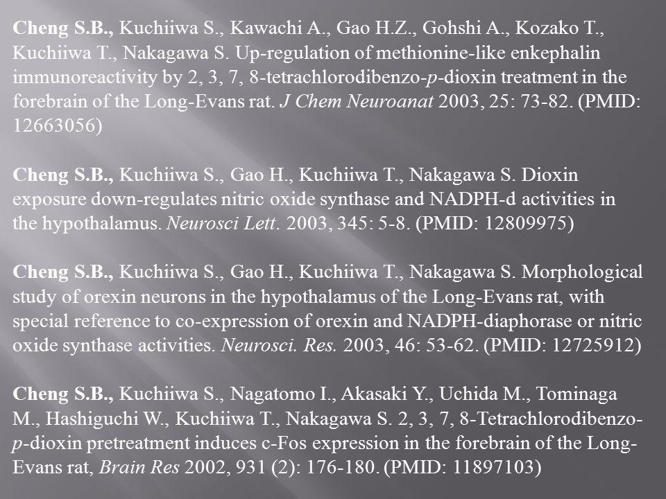 Cheng S.B., Kuchiiwa S., Kawachi A., Gao H.Z., Gohshi A., Kozako T., Kuchiiwa T., Nakagawa S. Up-regulation of methionine-like enkephalin immunoreacti