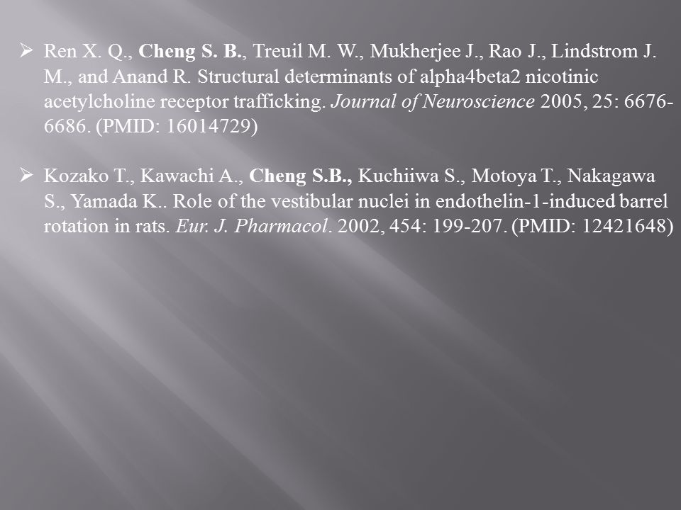  Ren X. Q., Cheng S. B., Treuil M. W., Mukherjee J., Rao J., Lindstrom J. M., and Anand R. Structural determinants of alpha4beta2 nicotinic acetylcho