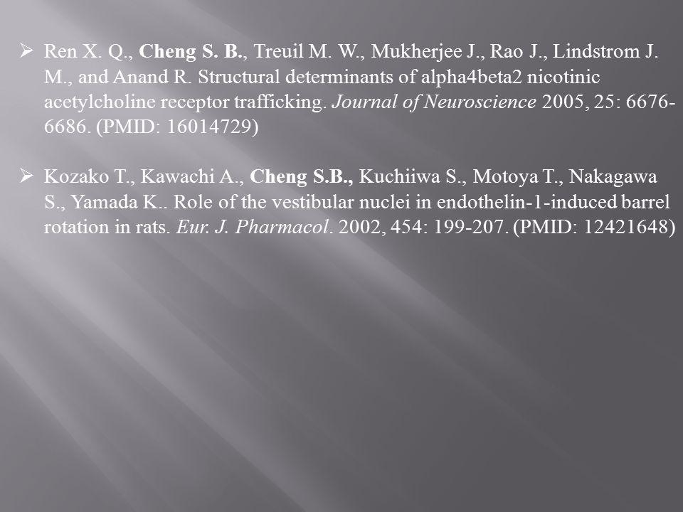  Ren X. Q., Cheng S. B., Treuil M. W., Mukherjee J., Rao J., Lindstrom J.