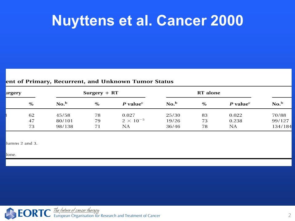 Nuyttens et al. Cancer 2000 2