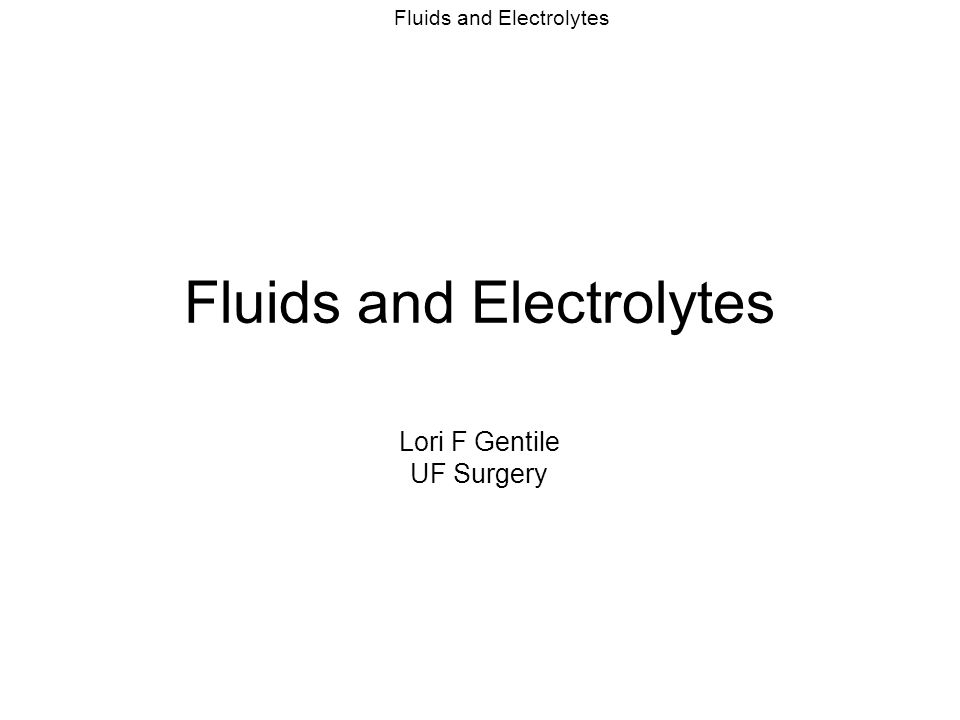 Fluids and Electrolytes Hyponatremia SIADH, Rule out hyperglycemia (pseudohyponatremia) Water restriction, diuresis, replacment Slow Na correction (1mEq/hr) –Avoid central pontine myelinosis Hypernatremia – tx with free water