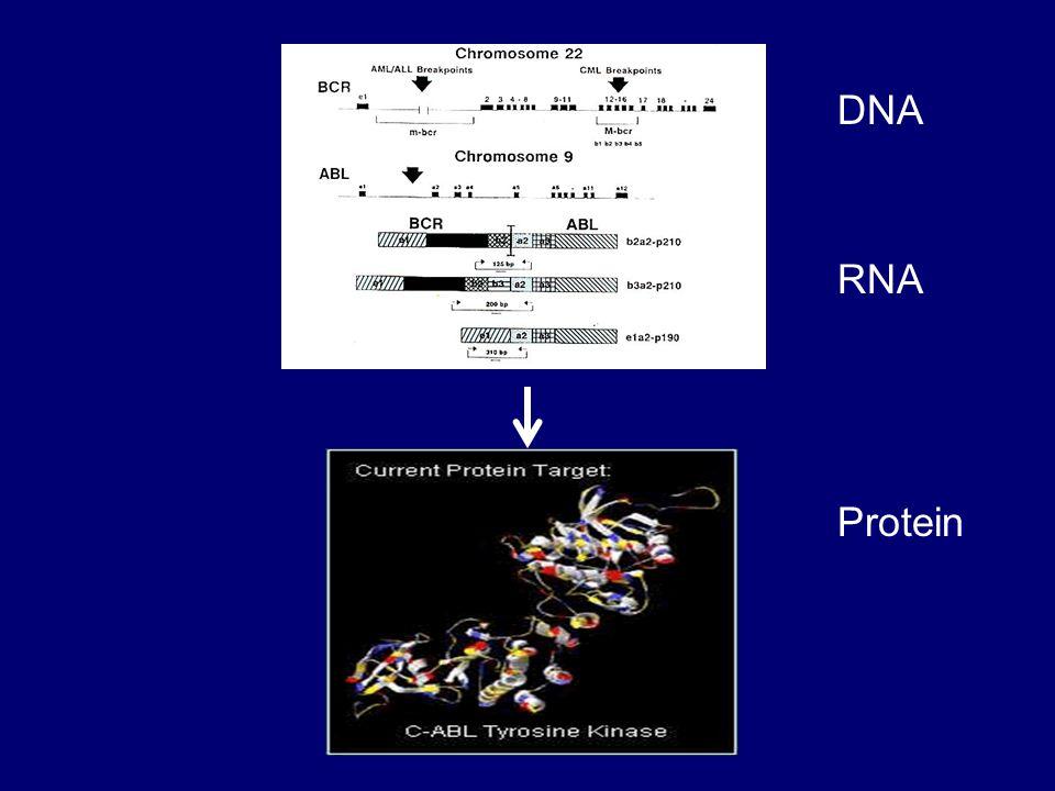 IRIS study MMR definition* 03/0506/0509/0512/0503/0604/0605/06 0.001 0.01 0.1 1 10 100 Date BCR-ABL/control gene (%) MEDIAN STANDARDIZED BASELINE VALUE ON 30 UNTREATED PATIENTS 3 log reduction from standard baseline * Hughes et al.