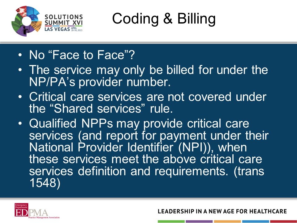 Coding & Billing No Face to Face .