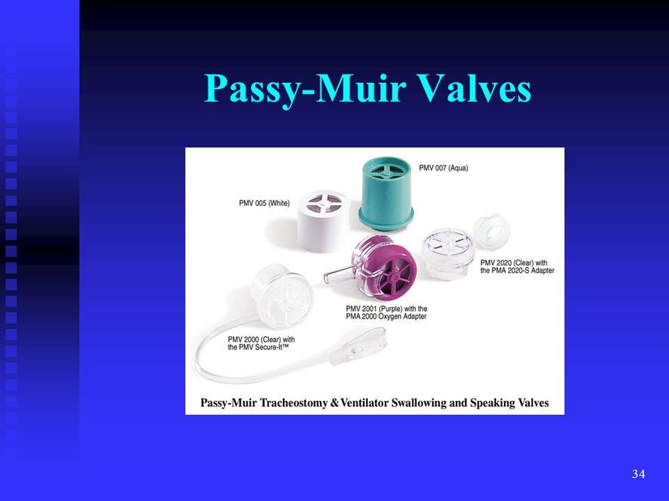 34 Passy-Muir Valves