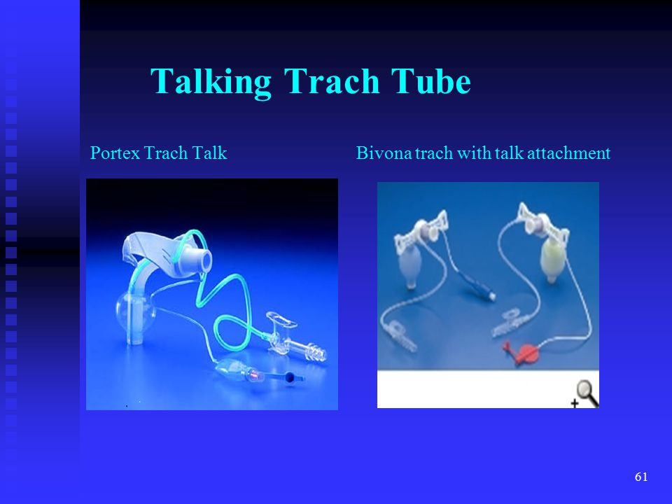 61 Talking Trach Tube Portex Trach Talk Bivona trach with talk attachment