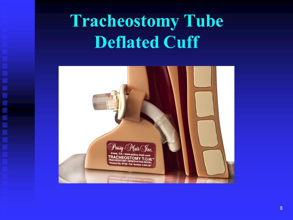 8 Tracheostomy Tube Deflated Cuff