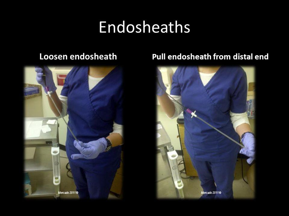 Endosheaths Loosen endosheath Pull endosheath from distal end Mercado 2011 ©