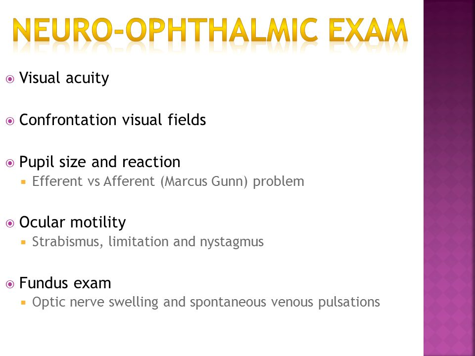 Optic Atrophy Pallor of optic disc due to damage of retinal ganglion cells.