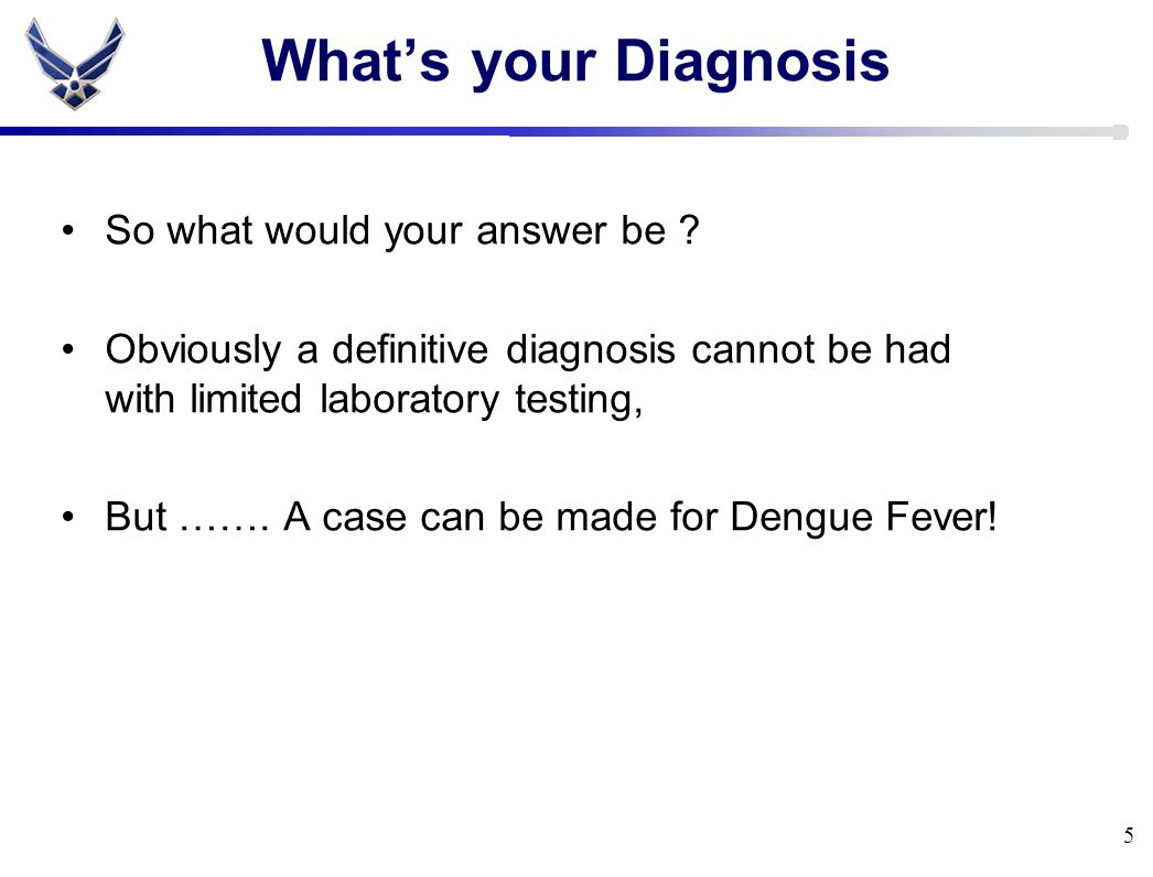What's your Diagnosis So what would your answer be .