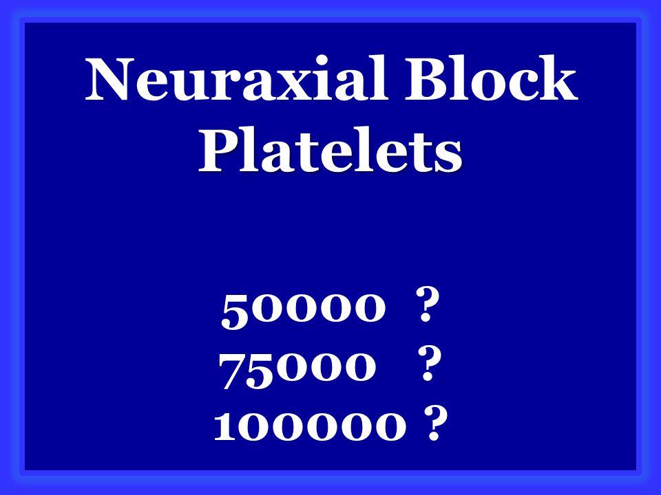 Platelets Neuraxial Block Platelets 50000 75000 100000