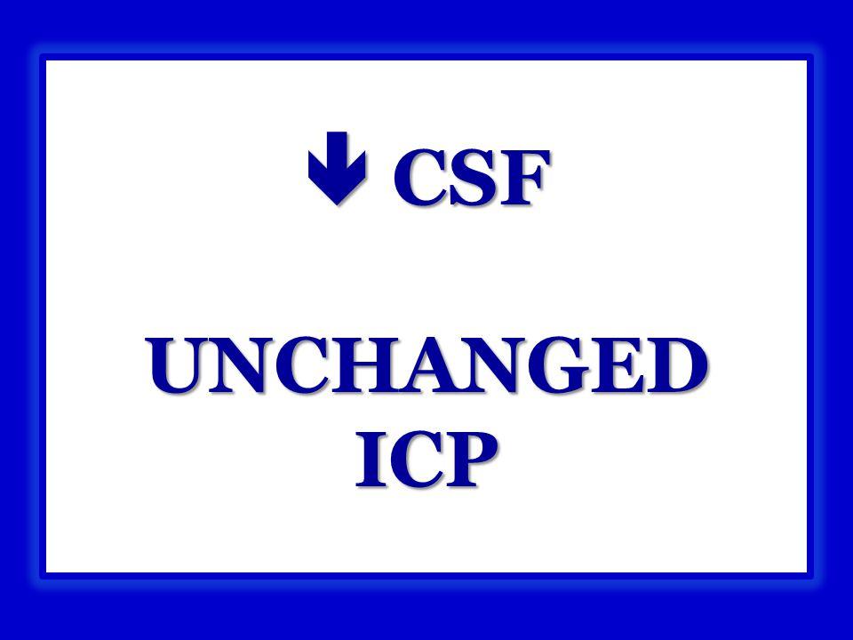  CSF UNCHANGED ICP