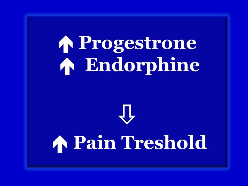  Progestrone  Endorphine   Pain Treshold