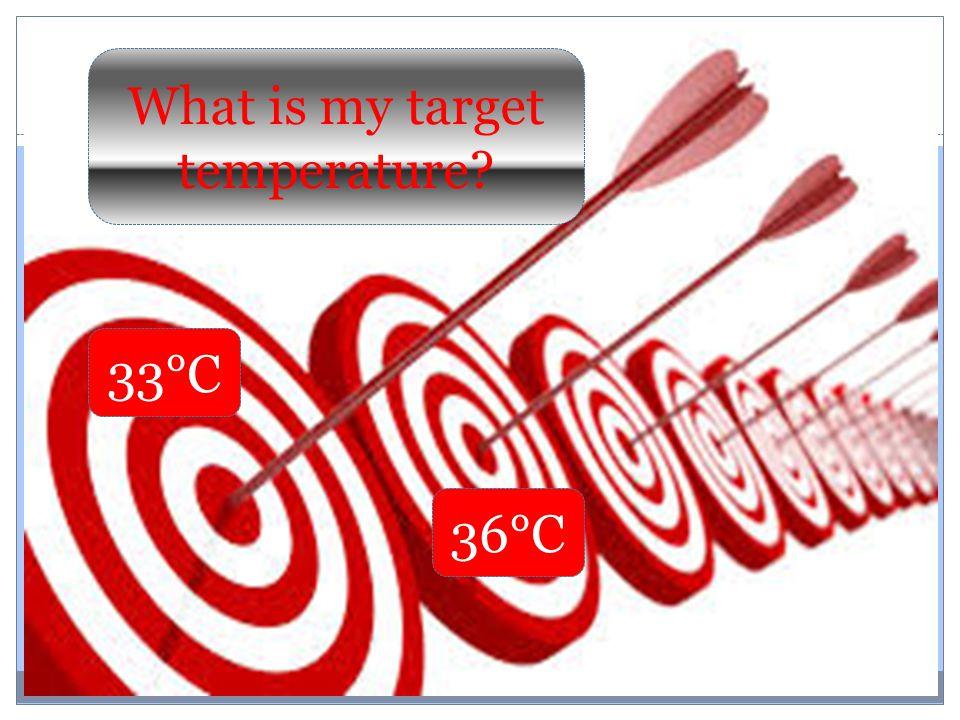 33°C 36°C What is my target temperature?