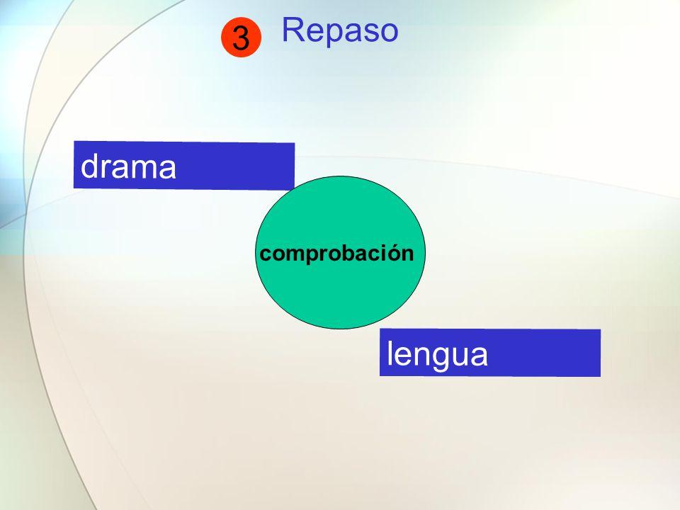 Repaso drama lengua comprobación 3