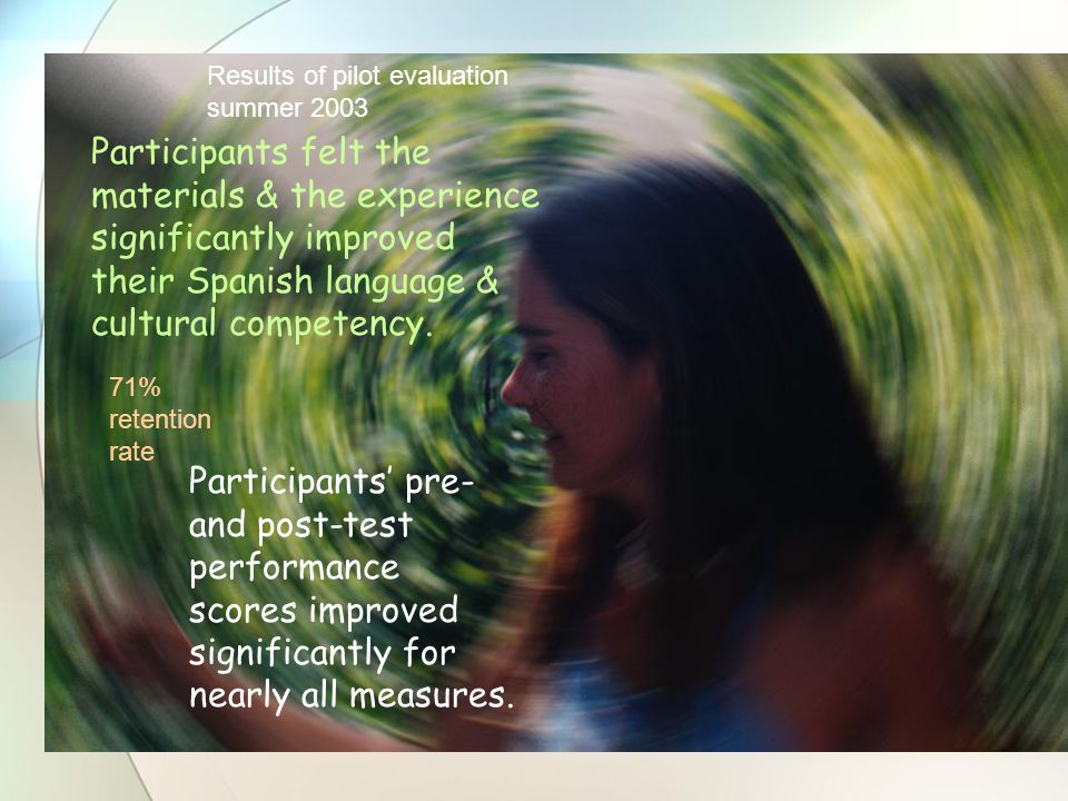 Participants felt the materials & the experience significantly improved their Spanish language & cultural competency.