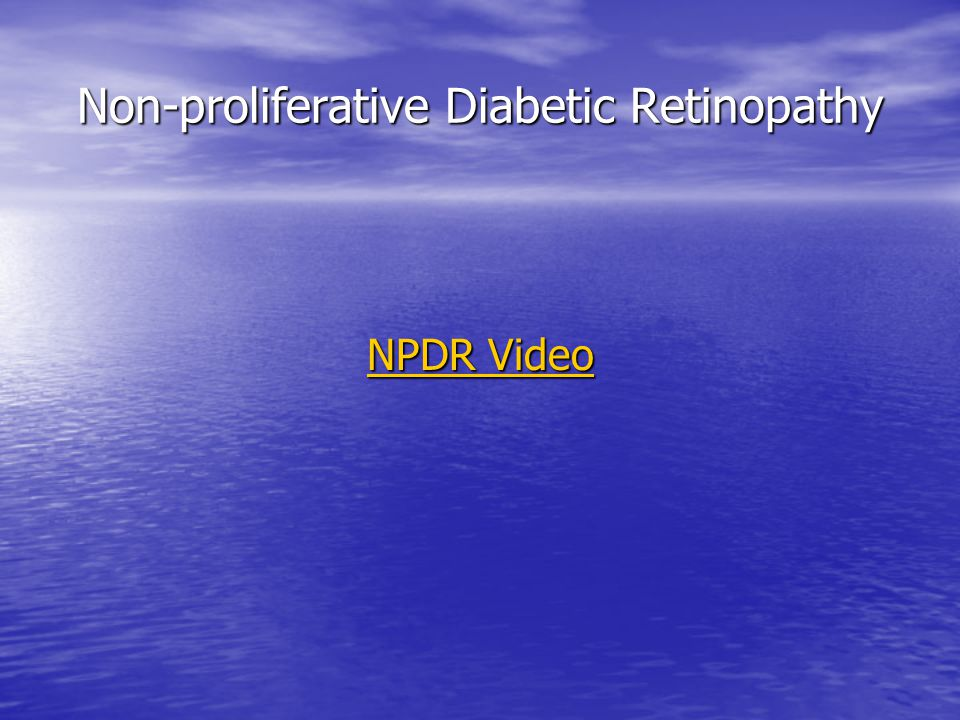 NPDR Video NPDR Video