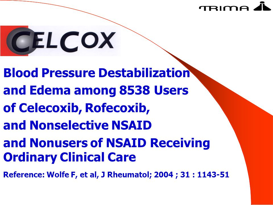 Blood Pressure Destabilization and Edema among 8538 Users of Celecoxib, Rofecoxib, and Nonselective NSAID and Nonusers of NSAID Receiving Ordinary Cli