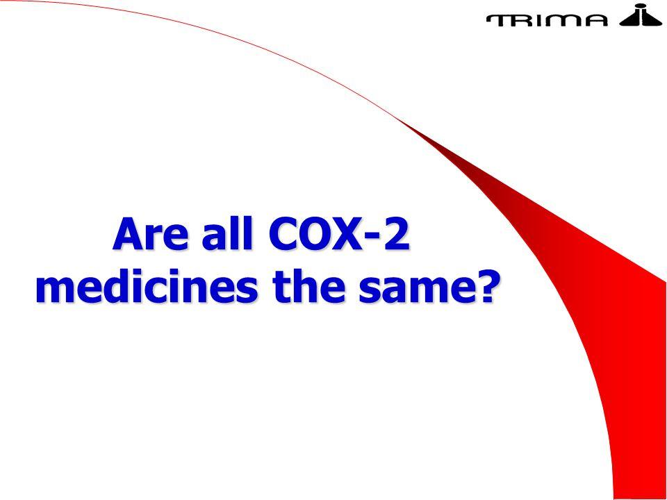 Are all COX-2 medicines the same?