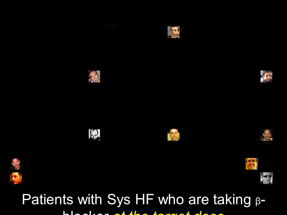 Patients with Sys HF who are taking β - blocker at the target dose