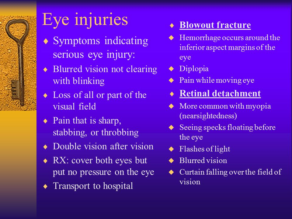 Facial injuries cont.  Fractured nose:  Most common fx. To the face  RX: control bleeding- x-ray –Have athlete sit upright –Cold compress –Direct p