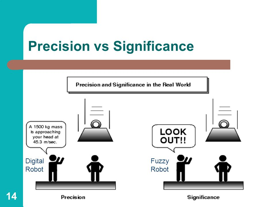 14 Precision vs Significance Digital Robot Fuzzy Robot