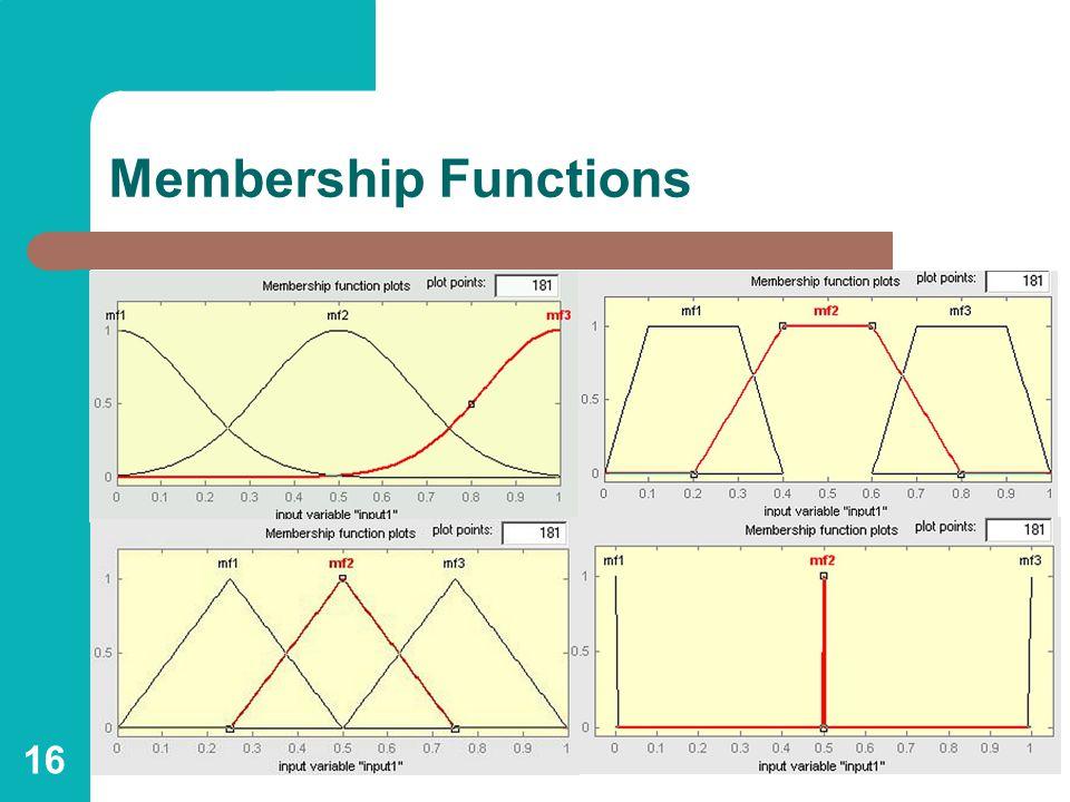 16 Membership Functions