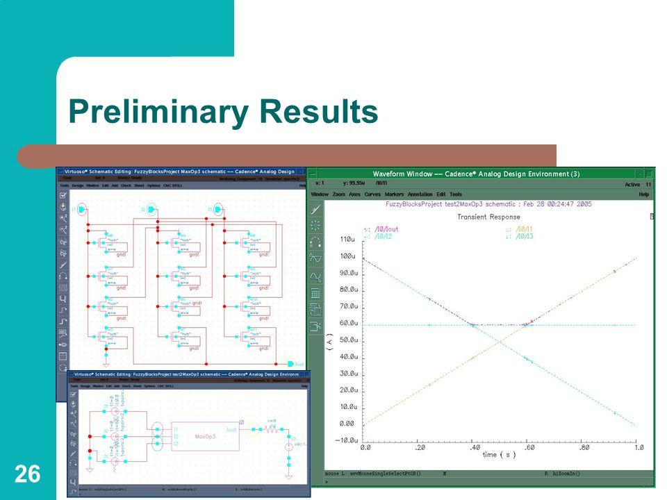 26 Preliminary Results