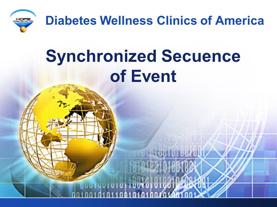 Synchronized Secuence of Event Diabetes Wellness Clinics of America