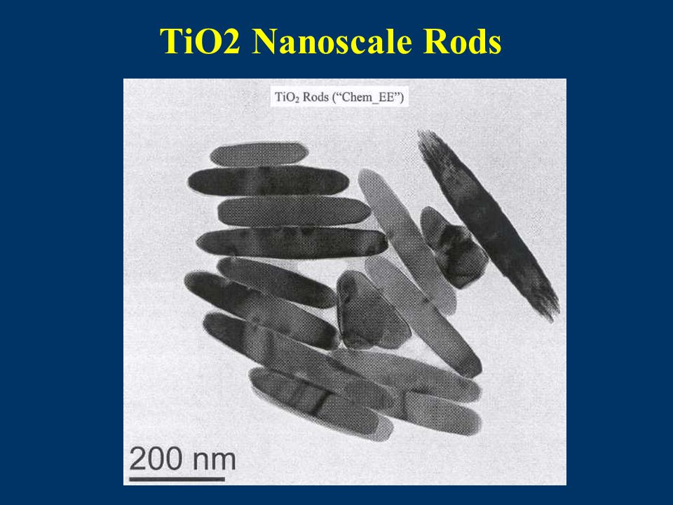 TiO2 Nanoscale Rods